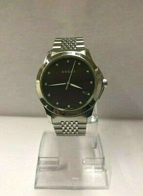 2e67e5ee14b Gucci 126.4 Diamond Dial Men s Quartz Stainless Steel Wrist Watch