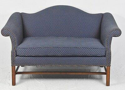 BAKER Mahogany Chippendale Style Settee Sofa High End Williamsburg Style
