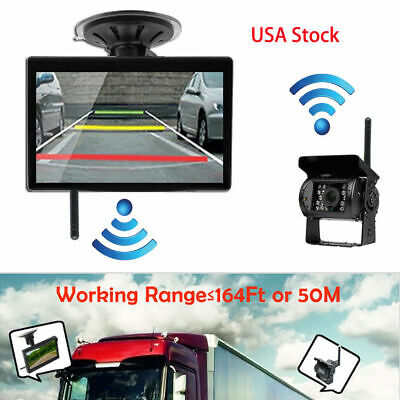 "Wireless Parking Reverse 5"" Camera and Rearview Mirror Monitor Kit For BUS Truck"