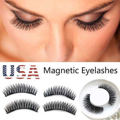 3D Triple Magnetic Eyelashes Handmade Reusable False Magnet Full Eye Lashes sm