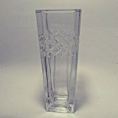 Art Glass Vase Bohemia Czech Republic Mid-Century 5.5 lbs 24% Lead Crystal 10""