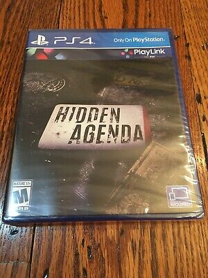 HIDDEN AGENDA Playstation 4 PS4 complete In Box CIB NEW SEALED