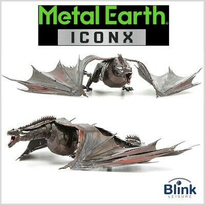 "Metal Earth ICONX: Game Of Thrones ""Drogon"" Flying Dragon 3D Model Kit"