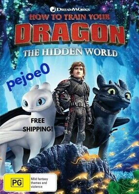 How To Train Your Dragon The Hidden World DVD Reg 4 FREE POST! New! 2018