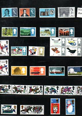 GB 1966 Commemorative's Set SG 685 to 716 MNH  (30 Stamps)