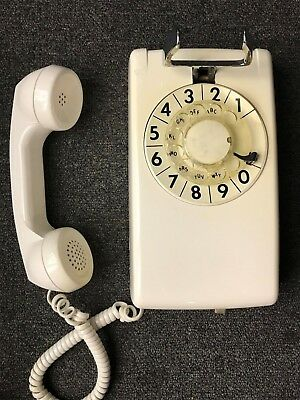 NOS Western Electric - Bell System 554 ROTARY Wall Telephone -58 WHITE