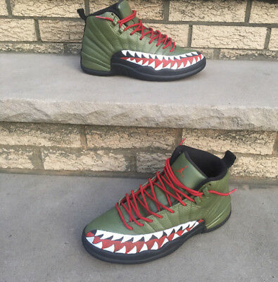 quite nice dc6a5 ca57b Customized A Bathing Ape Bape Inspired Jordan XII Custom Bape 12s Authentic