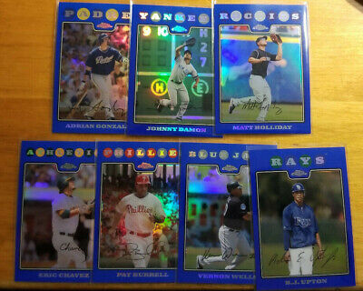 2008 Topps Chrome Blue Refractors Fill your set you pick choice 3.33 flat ship