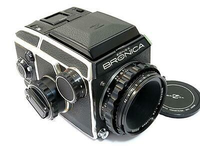 Bronica EC Medium Format Film Camera with Nikkor 75/2.8 Lens Excellent Japan F/S