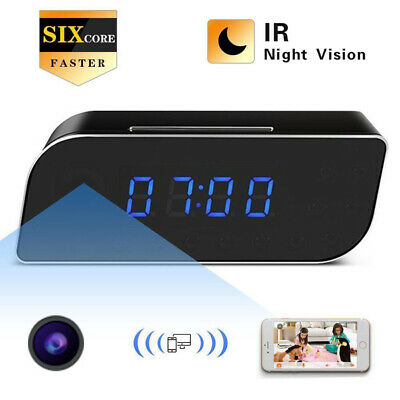 HD 1080P WiFi Camera Clock Wireless Night Vision Security Nanny Cam DVR Motion