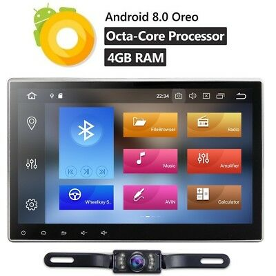 "10.1"" Universal Android Double DIN Car Dash Radio DVD Player GPS Navigation Wifi"