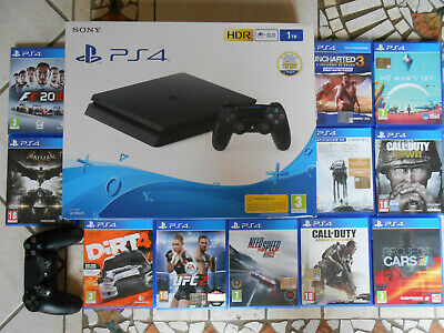 Sony PlayStation 4 Slim 1TB Console -12 giochi inclusi con cd come da foto