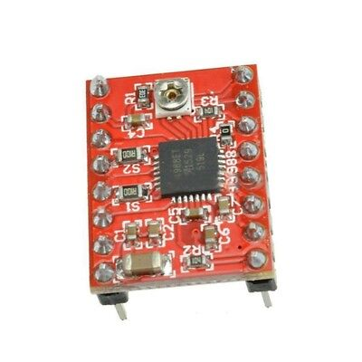 1 X Red Ccl 3D Printer Expansion Board A4988 Driver With A Radiator E5F5