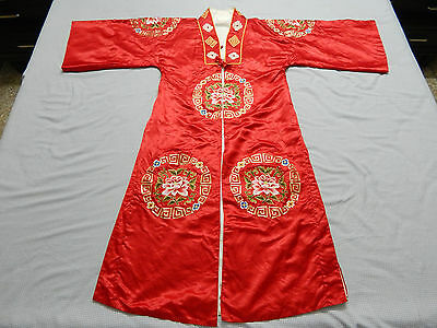 Antique Chinese Hand Embroidered Robe Good Condition Magnificent (X49)