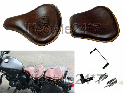 Royal Enfield Classic 350cc 500cc Front and Rear Leather Seat Brown