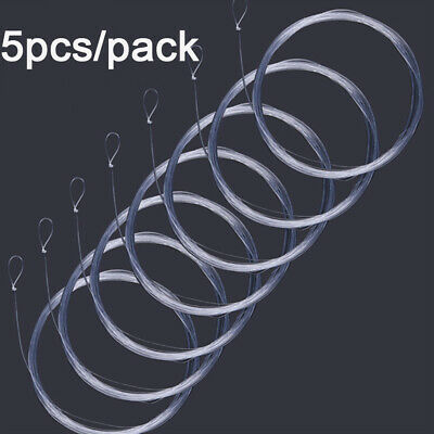 HOT 5Pcs 9FT/12FT/15FT Fly Fishing Line 0/1/2 3/4/5/6X Clear Tapered Leader Loop