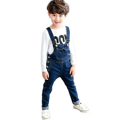 NABER Boys Suspender Jeans Adjustable Straps Cotton Denim Overalls Age 4-13 Yrs