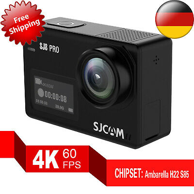 Sjcam SJ8 pro 4K Uhd 60fps 8X Zoom 2.4G/5G Wi-Fi Action Kamera Dual Touch Screen