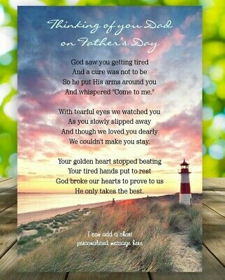 FATHER'S DAY, DAD Memorial Grave Card Graveside Remembrance Poem Grave  Keepsake