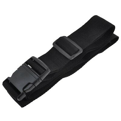 Quick Release Buckle Black Luggage Strap 202cm Long X3F9