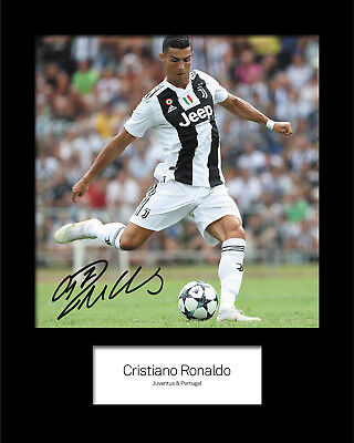 CRISTIANO RONALDO #8 Signed 10x8 Mounted Photo Print (rEPRINT) - FREE DELIVERY