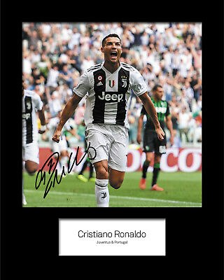 CRISTIANO RONALDO #7 Signed 10x8 Mounted Photo Print (rEPRINT) - FREE DELIVERY