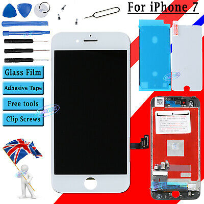 For iPhone 7 LCD Screen Digitizer Display White 3D Touch & Film Waterproof Tape