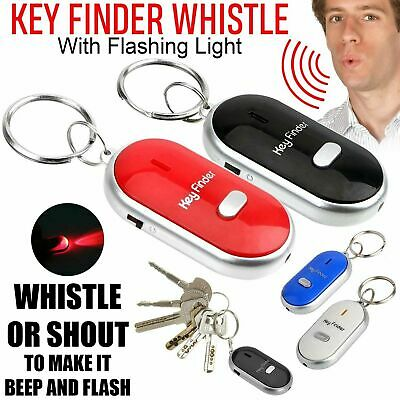 2 X Lost Car Key Finder Locator With Led Light Just Whistle Key Ring Whistle Chn