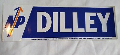 Vintage South Africa National Party Political Campaign Election Bumper Sticker