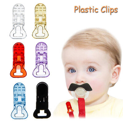5pcs Lovely Baby Plastic Pacifier Clips Suspender Soother Pacifier Holder Clip