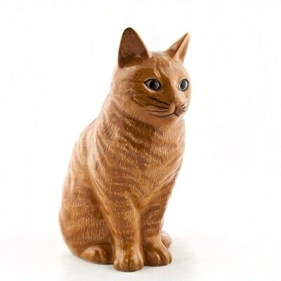 Ceramic Vincent Ginger Cat Flower Vase Small By Quail