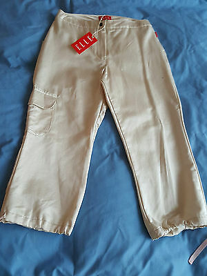 Girl's Designer Elle 3/4 / Cropped Gold Trousers Age 12yrs BNWT RRP £44.99