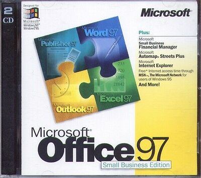 Microsoft Office 97 Small Business Edition WORD EXCEL OUTLOOK Microsoft Office