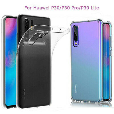 For Huawei P30/Pro/Lite Clear Soft TPU Case Silicone Shockproof Back Cover-RO