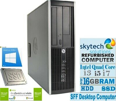 FAST Cheap HP 8200 SFF Core i7 i5 i3 Windows 10 Desktop PC 16GB RAM 2TB HDD SSD