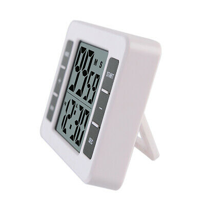 Large LCD Digital Alarm Clock Kitchen Cooking Count Up Countdown Timer