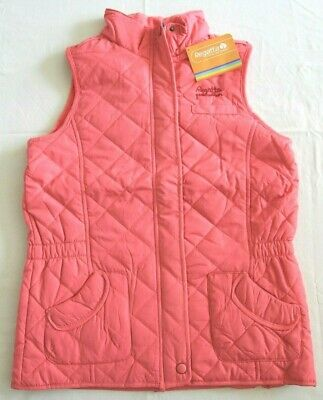 "Regatta Gee Gee Girls Quilted Pink Bodywarmer Age 14 yrs Size 34"" BNWT RRP £30"