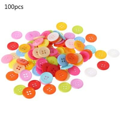 100PCs HELLO Black Round Resin Sewing Buttons Scrapbooking 9x2mm