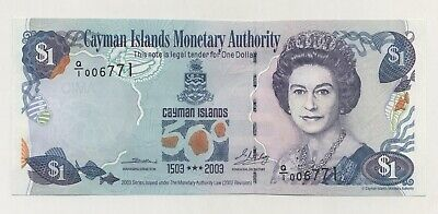 Cayman Islands 1 Dollar 2003 Pick 30.a UNC Uncirculated Banknotes