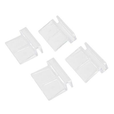 4x Aquarium Fish Tank Clear Clip Glass Cover Support Holders 6/8/10/12mm