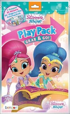 NEW Lot of 3 Bendon PLAY PACK GRAB & GO Shimmer and Shine Nickelodeon PARTY BAG