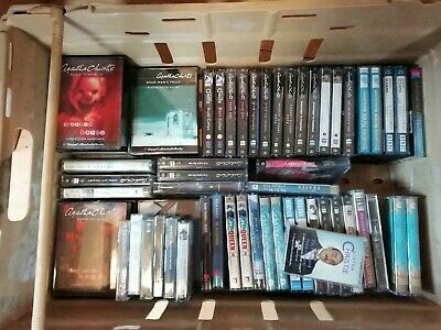 Huge collection 70 + of Agatha Christie and others Audio Cassette books