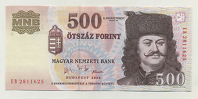 Hungary 500 Forint 2006 Pick 194 UNC Uncirculated Banknote