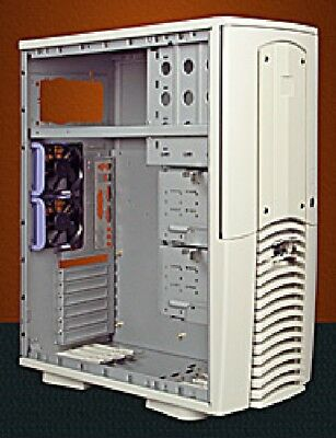 PC CASE ATX RETRO Midi Tower Computer Case ACM503X, in Beige
