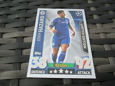 Match Attax UCL 2015 2016 - EDEN HAZARD - LE3 Silver Limited Edition 15 16 Card