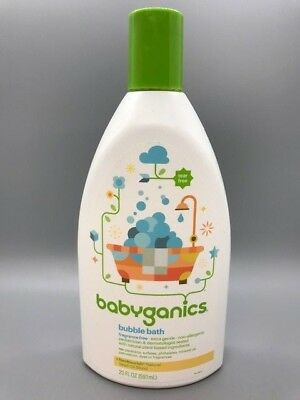 Babyganics Bubble Bath, Fragrance Free, 20 fl. oz. / 591 ml  NEW FREE SHIPPING