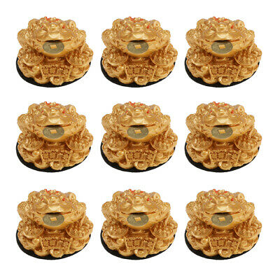 9x Feng Shui Money Lucky Fortune Oriental Chinese Wealth Frog Toad Coin Deco