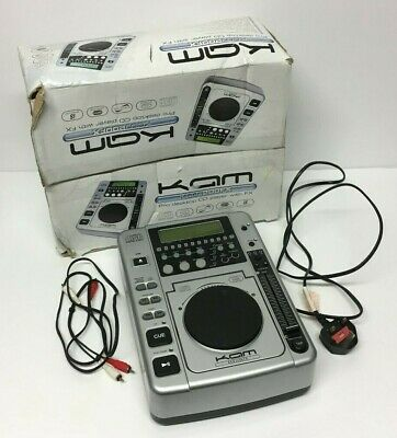 KAM KCDJ200FX Pro Desktop CD Player with FX Unit DJ Deck Boxed Working
