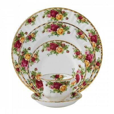 Royal Albert Old Country Roses - 5 Piece Place Setting - Made in England