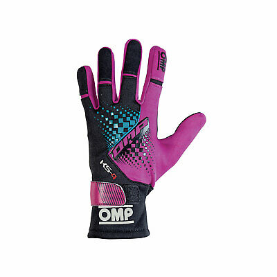 OMP KS-4 MY18 Karting Gloves Purple - Genuine - M